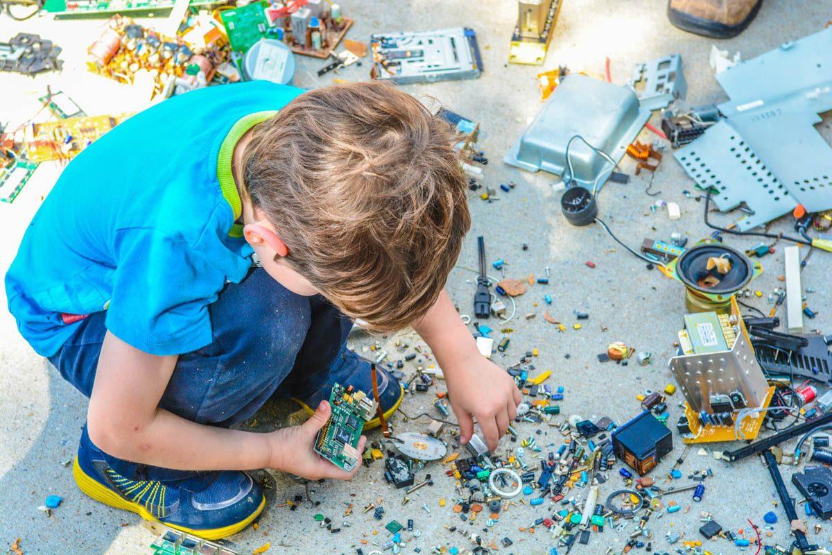 Boy Building Computer