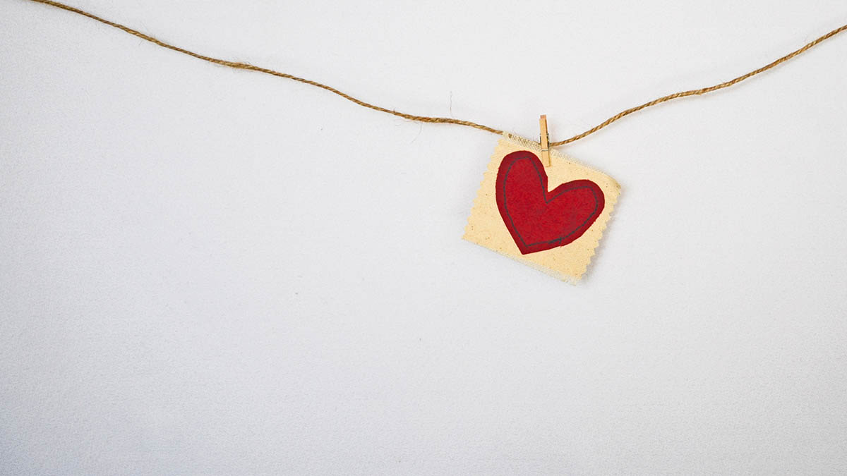 Paper Heart Hanging on String
