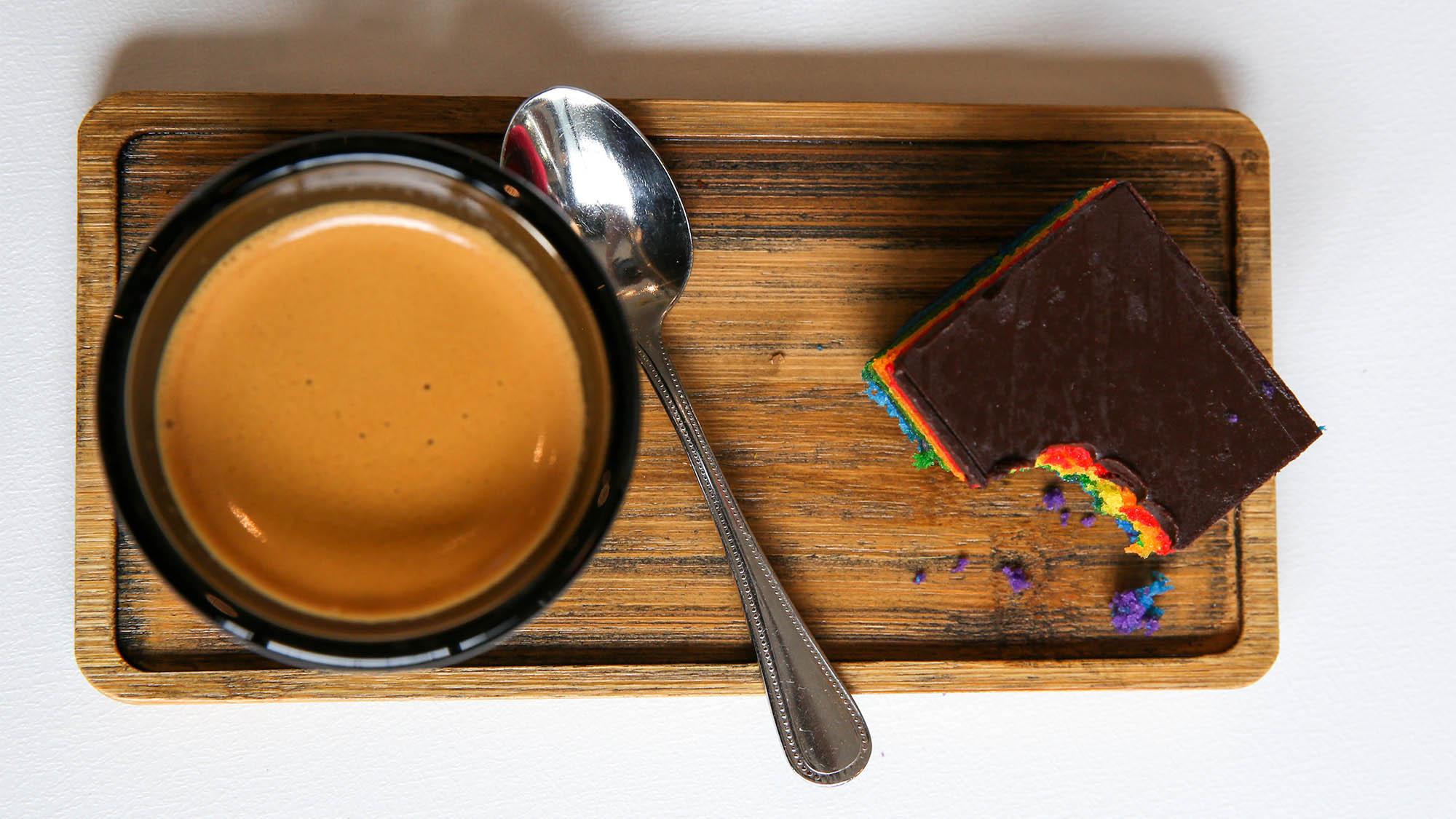 Rainbow Cake and Tea