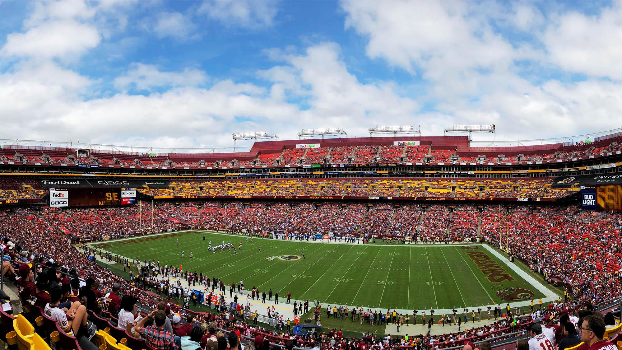 Football Stadium During Game
