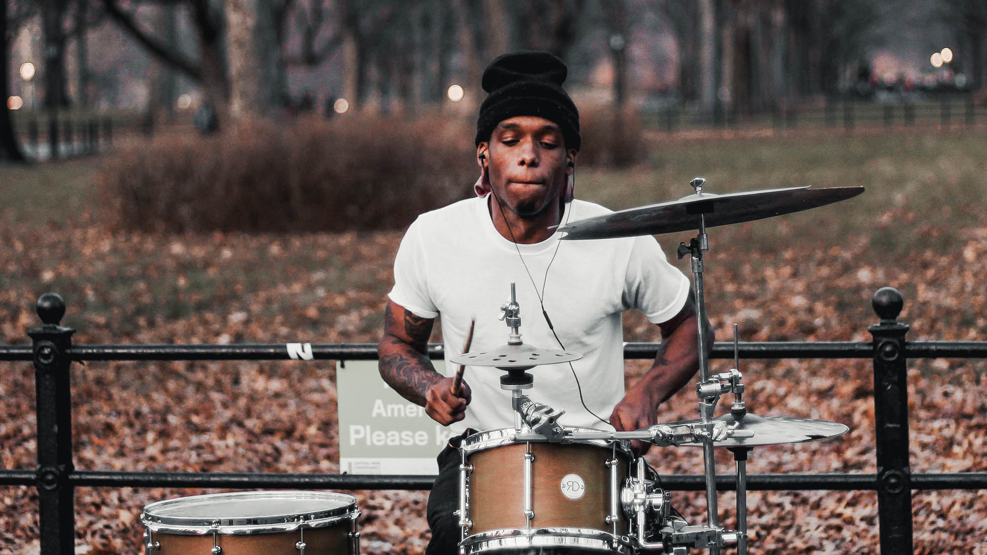 Drummer in Central Park