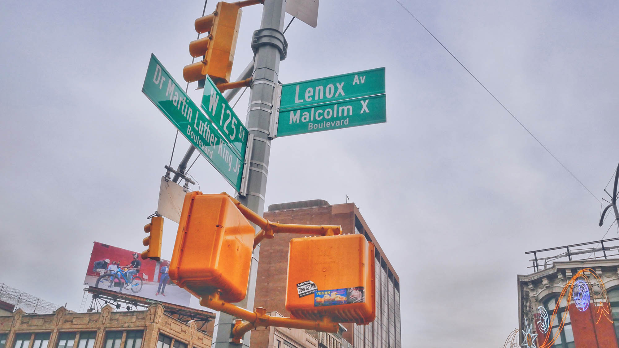 Lenox Ave 125 St Signs Intersection Harlem NYC