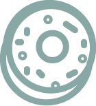 Green bagel icon